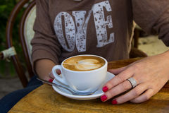 Cup of coffee (coffee brake) Royalty Free Stock Photo