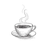 Cup of coffee. Coffee break icon. Royalty Free Stock Photography