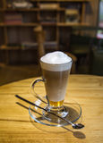 Cup of coffee in coffee shop vintage color Royalty Free Stock Photography