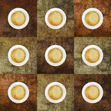 Cup of coffee with colored backgrounds Stock Photo