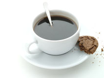 Cup of coffee and cookie Stock Image
