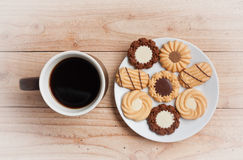 Cup of coffee and cookie Stock Photography