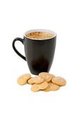 Cup of coffee and cookies Stock Photos