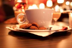 Cup coffee with cookies Stock Images