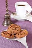 Cup with coffee and cookies Stock Image