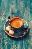 Cup of coffee with cookies Stock Photography