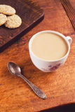 Cup of coffee with cookies for breakfast Stock Photo