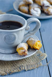Cup of coffee and cookies Stock Image