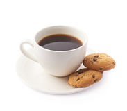 Cup of coffee and cookies composition Stock Photo