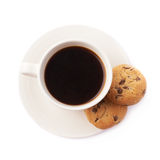 Cup of coffee and cookies composition Royalty Free Stock Photos