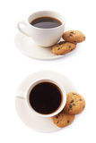 Cup of coffee and cookies composition Royalty Free Stock Photography