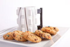 Cup of coffee with cookies Royalty Free Stock Photo