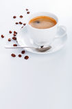 Cup coffee copyspace saucer bean Royalty Free Stock Image