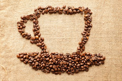 Cup of coffee from corns Royalty Free Stock Images