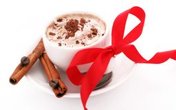 Cup of coffee with cream Royalty Free Stock Photo