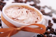 Cup of coffee with cream Stock Photography