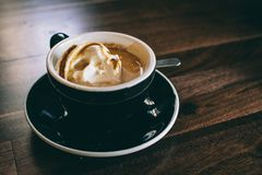 Cup of coffee with cream Stock Images