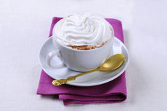 Cup of coffee with cream Stock Image