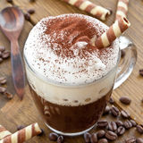 Cup of coffee with creamy milk foam Royalty Free Stock Photography