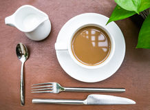 Cup of coffee with culinary setup Stock Photo