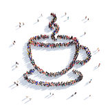 Cup of coffee cup of tea people 3d Royalty Free Stock Image