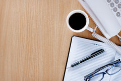 Cup of Coffee on Customer Service Desk Royalty Free Stock Image