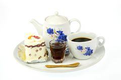 Cup of coffee and delicious cake Stock Photo