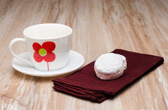 Cup of coffee and delicious cookies Stock Image