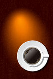 Cup of coffee on the desk. Vector Stock Photo