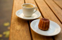 Cup of coffee and dessert Stock Photography