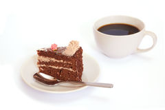 Cup of coffee and dessert. Stock Photography