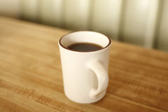 Cup of coffee at diner Royalty Free Stock Images