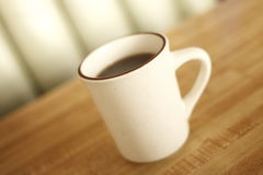Cup of coffee at diner Royalty Free Stock Photos
