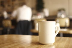 Cup of coffee at diner Royalty Free Stock Photography