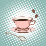 Cup of coffee. Doodle image. Royalty Free Stock Image
