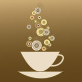 A cup with coffee drink Royalty Free Stock Photo