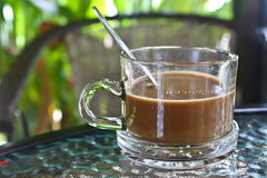 Cup of coffee. At enjoy coffee Stock Photo