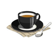 Cup of coffee. Eps10  illustrations.  on white background Royalty Free Stock Photography