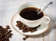 Cup of coffee espresso. Break time Royalty Free Stock Photo