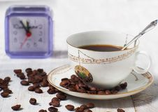 Cup of coffee espresso. Break time Royalty Free Stock Photos