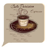 Cup Of Coffee. Espresso. Cartoon style. Vector Royalty Free Stock Images