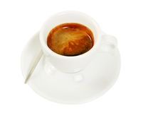 Cup with coffee espresso Stock Image