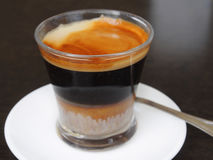 Cup of coffee espresso with milk Stock Images