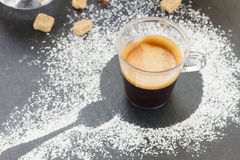 Cup of coffee espresso Royalty Free Stock Images
