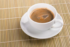 Cup of coffee. Espresso coffee in white cup Royalty Free Stock Photo