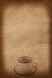 Cup of coffee on fabric background Royalty Free Stock Photos