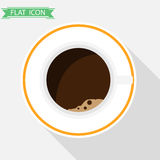 A cup of coffee. Flat design, illustration royalty free illustration