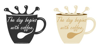 A cup of coffee. Flat design, vector illustration, vector stock illustration