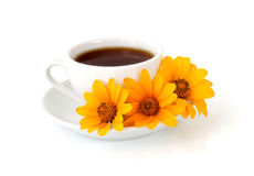 A cup of coffee with flowers Stock Photography