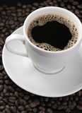 Cup of coffee with foam Stock Photo